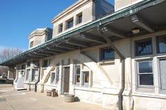 старый поезд станции Стоковые Фото