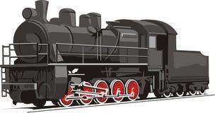 старый поезд иллюстрация вектора