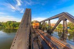 Старый поезд в Таиланде стоковые изображения rf