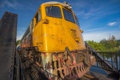 Старый поезд в Таиланде стоковая фотография rf