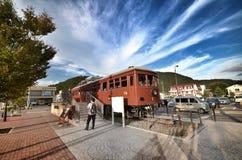 Старый поезд в kawafujiko Японии Стоковое Изображение RF