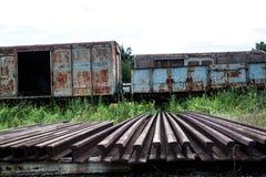 Старый поезд ржавчины Стоковое Изображение