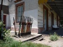 старый поезд станции Стоковые Изображения