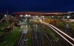 старый поезд станции Стоковые Изображения RF