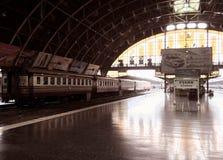 старый поезд станции Стоковое Изображение