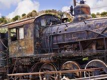 Старый поезд Topeka Atchison и железной дороги Санта-Фе в Мадриде Неш-Мексико США Стоковая Фотография
