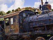 Старый поезд Topeka Atchison и железной дороги Санта-Фе в Мадриде Неш-Мексико США Стоковое фото RF
