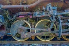 Старый поезд Whieels HDR Стоковое Изображение RF
