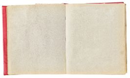 Старый пожелтетый фотоальбом для фото стоковые изображения rf