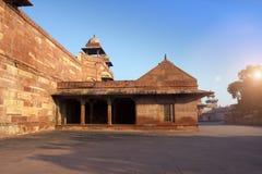 Старый покинутый город Fatehpur Sikri, XVI столетие Агра, Уттар-Прадеш, Индия стоковые фото