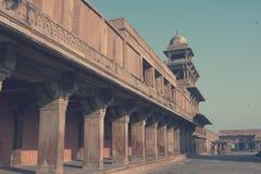 Старый покинутый город Fatehpur Sikri, XVI столетие Агра, Уттар-Прадеш, Индия тонизировать стоковые фотографии rf