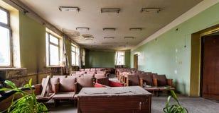 Старый покинутый конференц-зал Стоковое Изображение