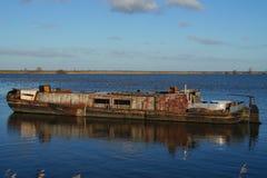Старый покинутый корабль - фантомный корабль Стоковая Фотография