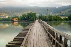 Старый покинутый мост Стоковые Изображения