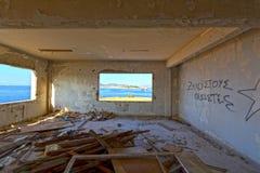 Старый покинутый офис Стоковая Фотография RF