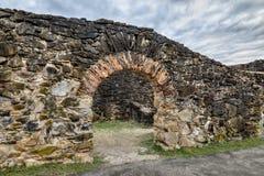 Старый портал миссии - Сан Антонио, Техас стоковые изображения