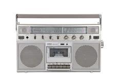Старый портативный стерео игрок кассеты с путем клиппирования стоковые изображения rf