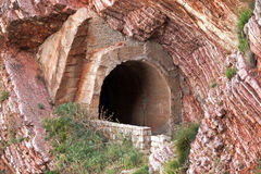 Старый портал тоннеля Стоковые Фото