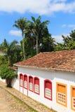 Старый португальский колониальный домов центр города внутри Paraty, Бразилии Стоковое фото RF