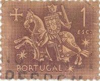 Старый португальский штемпель почтового сбора стоковые изображения rf