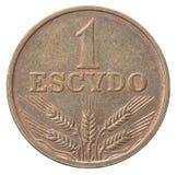 Старый португальский escudo Стоковое Изображение RF