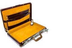 Старый портфель. Стоковое Изображение RF
