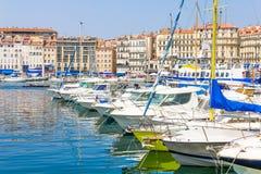 Старый порт в марселях, Франция стоковые изображения rf