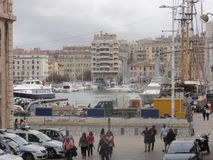 Старый порт марселя - Коута Провансали-Alpes отдела - Франция стоковая фотография rf