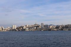 Старый порт марселя, Франции Стоковое Изображение