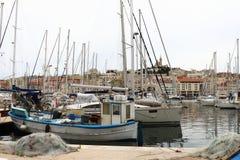 Старый порт марселя, Франции стоковая фотография