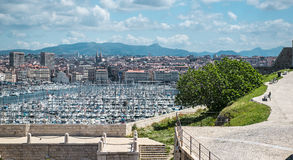 Старый порт марселя Стоковые Изображения RF