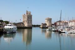 Старый порт La Rochelle, Франции Стоковые Изображения RF