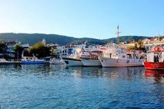 Старый порт, Skiathos, Греция Стоковое Изображение RF