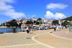 Старый порт, Skiathos стоковые изображения