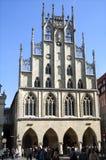 Старый последний готический здание муниципалитет, nster ¼ MÃ, Германия Стоковая Фотография RF
