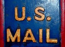 Старый почтовый ящик металла стоковое изображение
