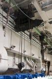 Старый промышленный крытый кран Стоковое Изображение RF