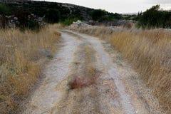 Старый путь и сухая трава Стоковая Фотография RF