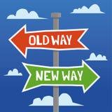 Старый путь против нового пути бесплатная иллюстрация