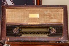 Старый радиоприемник FM с периода Второй Мировой Войны Стоковое Изображение