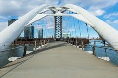 Старый разрушенный мост Стоковые Изображения