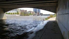 Старый разрушенный мост Стоковое Изображение RF