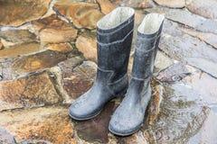 Старый резиновый ботинок Стоковые Изображения RF