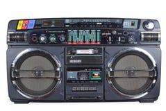 Старый рекордер кассеты на таблице стоковое изображение rf