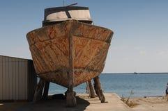 Старый ремонт корабля Стоковое фото RF