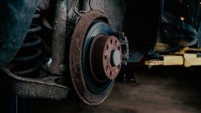 Старый ремонт тормозных шайб Стоковая Фотография RF