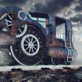 старый ретро поезд Стоковые Фотографии RF