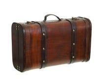 старый ретро стоящий чемодан чистосердечный Стоковые Изображения RF