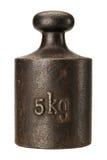Старый ржавый вес масштаба Стоковая Фотография