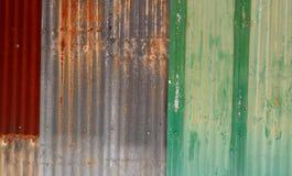 Старый ржавый гальванизированный цинк Стоковое фото RF